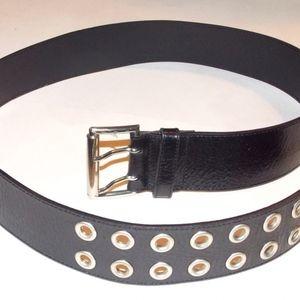 Vintage Leather Hip Belt Biker Rocker Glam Goth